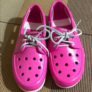 Crocs Pink Loafers Excellent Condition